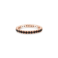 Eternity Ring Black Spinel. Solid Rose Gold 18k