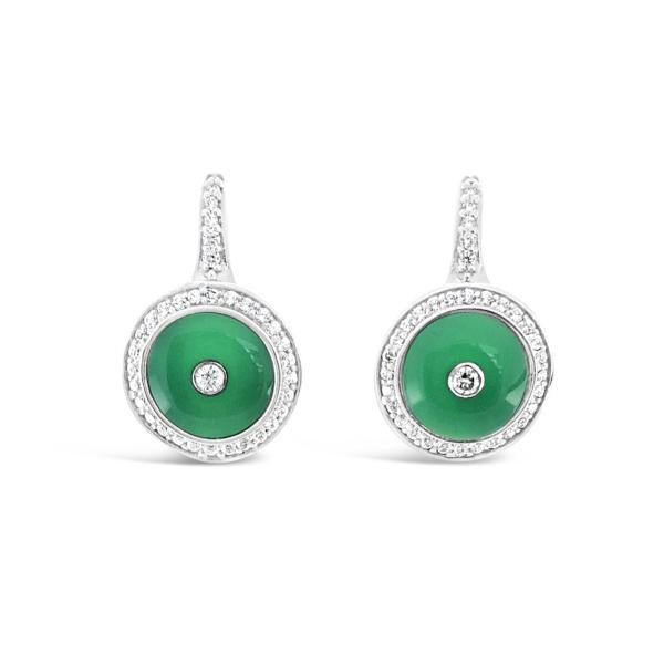 1927 Earrings Emerald Green Agate