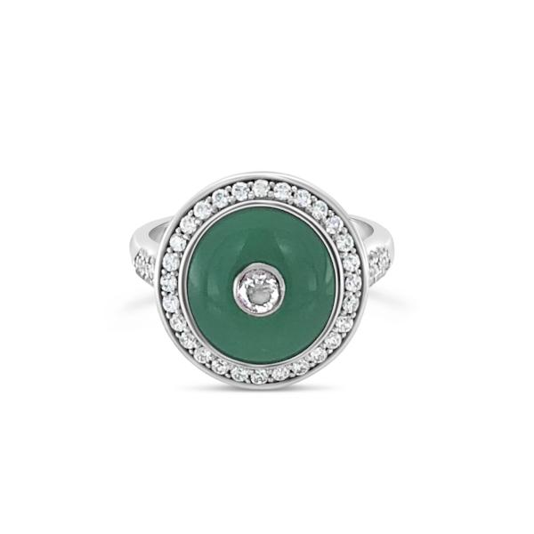 Nineteen Twenty Seven Ring Green Agate