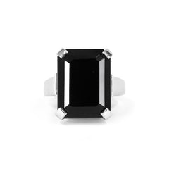 Black Onyx Art Deco Ring