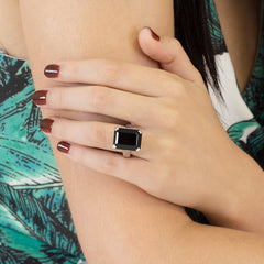Art Deco Ring Black Onyx
