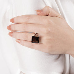 Smoky Quartz Trini Ring