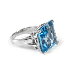 Blue Topaz Trini Ring
