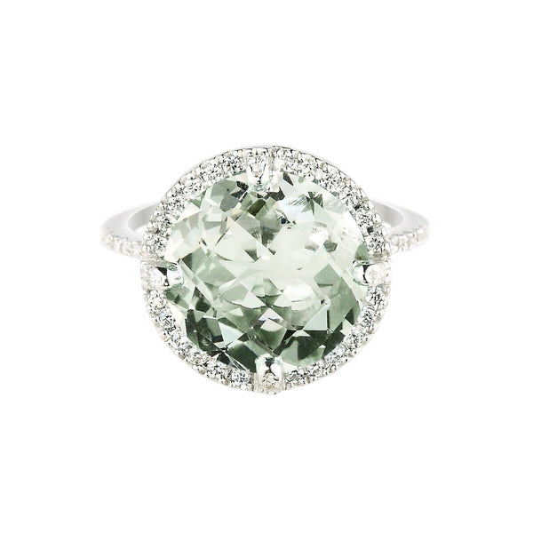 Green Amethyst Kellie Tiara Ring