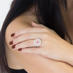 Rose Quartz Celebrations Ring