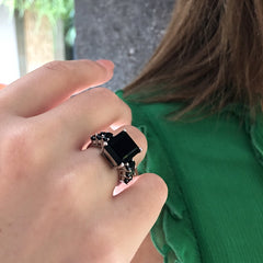 Manhattan Ring Black Onyx