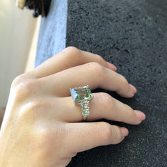 Manhattan Ring Green Amethyst