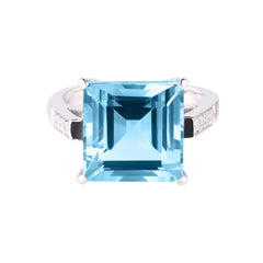 Blue Topaz Chloe Ring