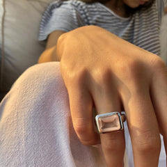 Santorini Ring Rose Quartz