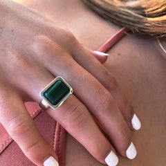 Santorini Ring Malachite