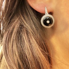 1927 Earrings Black Onyx