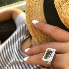 Santorini Ring White Quartz