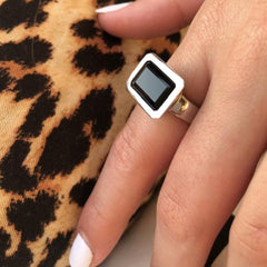 Santorini Ring Black Onyx