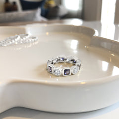 Love Bands Iolite & White Topaz Silver