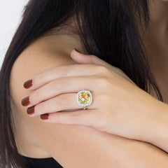 Yellow Citrine Celebrations Ring