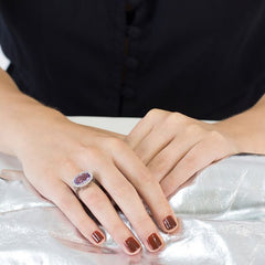 Purple Amethyst Niamh Vintage Ring