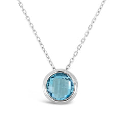 Bloom Pendant Blue Topaz