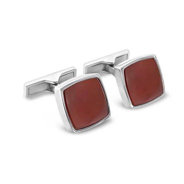 Cufflinks Red Agate