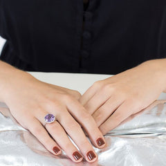 Purple Amethyst Kellie Tiara Ring