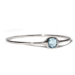 LOVE Bangle Blue Topaz