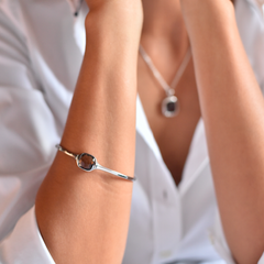 Urban Chic - LOVE Bangle Smoky Quartz