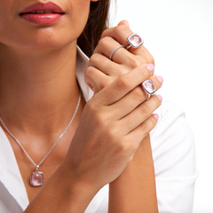 Urban Chic Pendant Rose Quartz