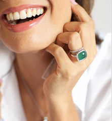 Urban Chic Ring Emerald Green Agate