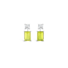 Modern Muse- Melissa Lemon Citrine & White Quartz Earrings
