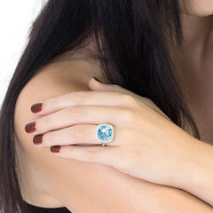 Blue Topaz Celebrations Ring