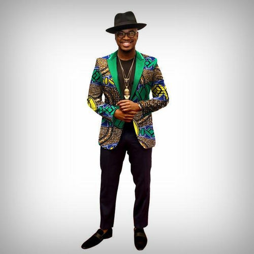 Desert Graffiti Dashiki Blazer