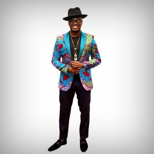 Floral Empire Dashiki Blazer