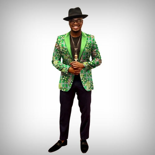 Green Cross Dashiki Blazer