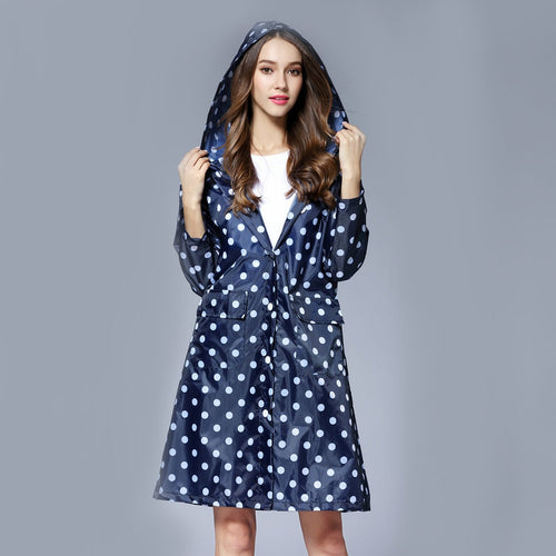 Hooded Polka Dot Raincoat