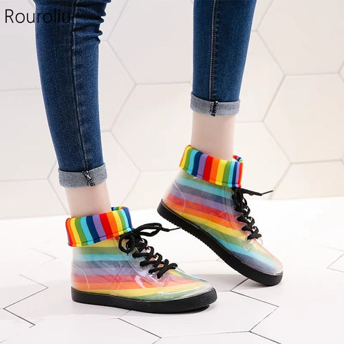 Rainbow Jelly Rainboots