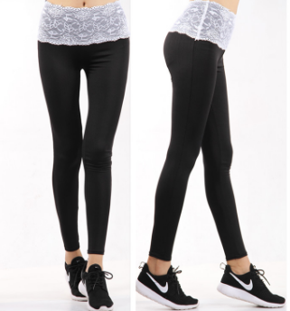 Lace Waist Leggings