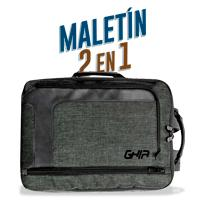 BACKPACK / MALETIN 2 EN 1 GHIA 15.6 GRIS/NEGRA