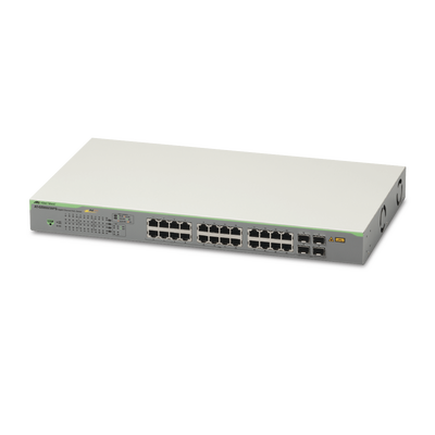 Switch PoE+ Gigabit WebSmart de 24 puertos 10/100/1000 Mbps + 4 puertos SFP Gigabit, 185 W - ABD Systems