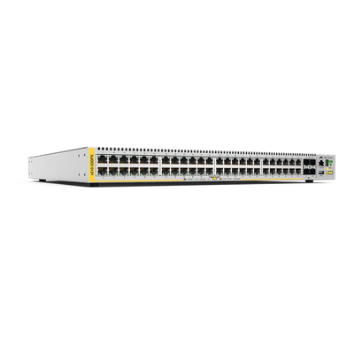 Switch PoE+ Stackeable Capa 3, 48 puertos 10/100/1000 Mbps + 4 puertos SFP+ 10 G, 370 W, fuente redundante - ABD Systems