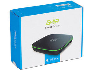 SMART TV BOX GHIA GAC-116/QUAD CORE/1GB/8GB/LAN/WIFI/HDMI/AV/CR/ANDROID 6.0/NEGRO-VERDE