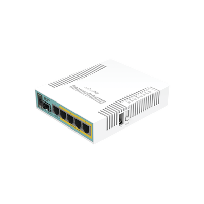 (hEX PoE) Routerboard 5 puertos Gigabit Ethernet PoE 802.3at, 1 Puerto USB - ABD Systems