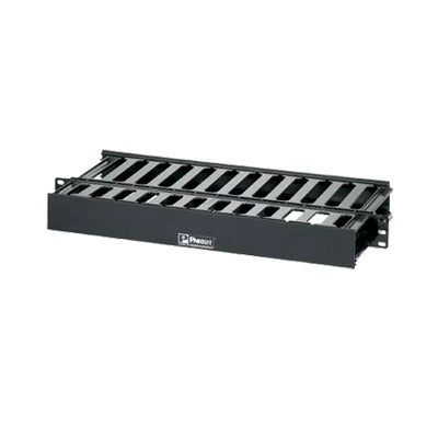 Organizador de Cables Horizontal Doble para Rack, de 19in, 1UR - ABD Systems