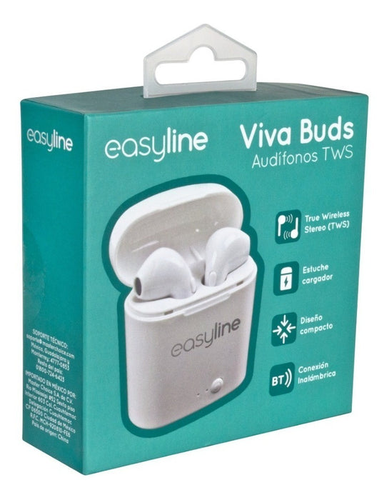 AUDIFONOS INALAMBRICOS EASY LINE BY PERFECT CHOICE VIVA BUNDS TWS