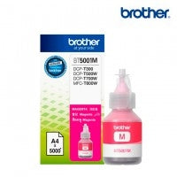 BOTELLA DE TINTA BROTHER MAGENTA BT5001M DE ALTO RENDIMIENTO DE HASTA 5000 PGINAS COMPATIBLE CON TINTA CONTINUA BROTHER