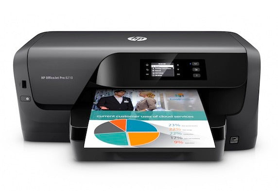 HPS IMPRESORA INYECCION A COLOR HP 8210 OFFICEJET PRO PRINTER 22 PPM NEGRO - 18PPM COLOR / WIFI - ABD Systems