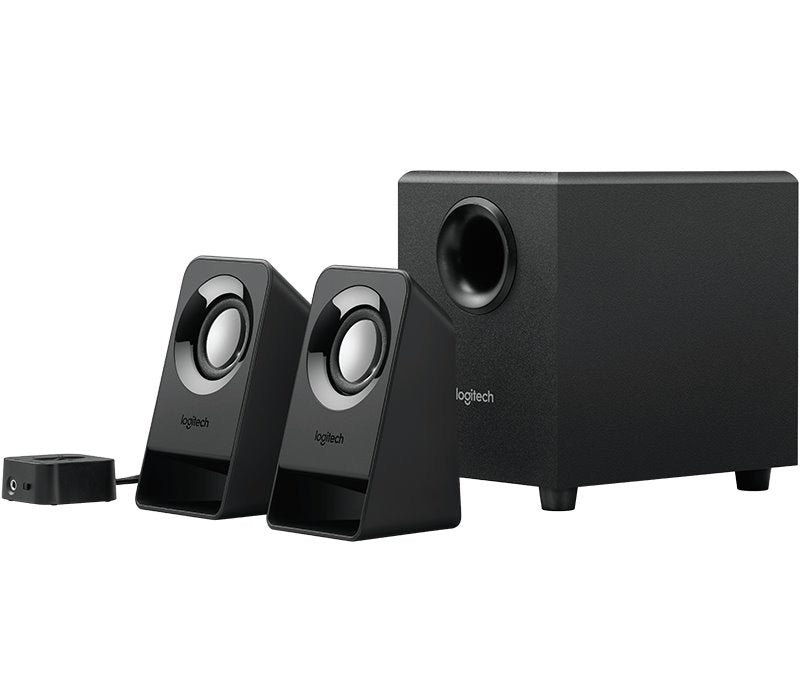 BOCINAS LOGITECH Z213 2.1 NEGRAS 7 WATTS RMS PC/MAC/IPOD/DVD
