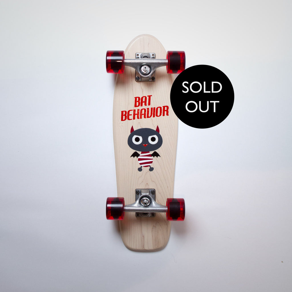 Cruiser Mini - White (Maple) - Bat Behaviour