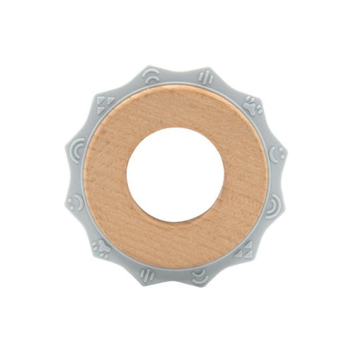 Sun Teether | Silicone/Wood | Gray
