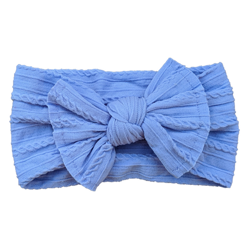 Cable Knit Bow Headband | Lavender