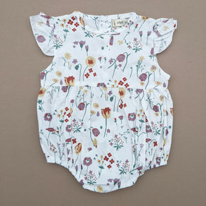 Layla | Short Sleeve Romper | Floral