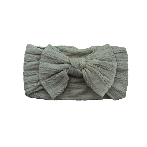Cable Knit Bow Headband | Sandy Beach